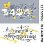 set of modern vector... | Shutterstock .eps vector #400301383