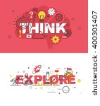 set of modern vector... | Shutterstock .eps vector #400301407