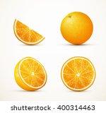 set of oranges in different...   Shutterstock .eps vector #400314463