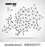 polygonal map of europe with ... | Shutterstock .eps vector #400320727
