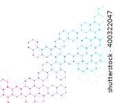 abstract hexagonal background.... | Shutterstock .eps vector #400322047