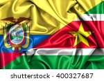 waving flag of suriname and... | Shutterstock . vector #400327687