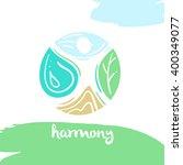 logo harmony  four nature... | Shutterstock .eps vector #400349077