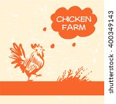 vector logo. chicken and hen... | Shutterstock .eps vector #400349143