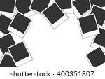 pile of photo frames on white...   Shutterstock .eps vector #400351807