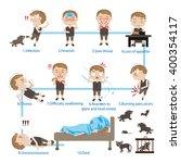 sick children rabies  cartoon... | Shutterstock .eps vector #400354117