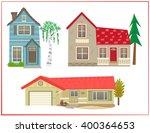 cute houses   cartoon set of... | Shutterstock .eps vector #400364653