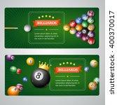 billiards banners set on grey.... | Shutterstock .eps vector #400370017