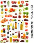 the set fruit  vegetables  meal ... | Shutterstock . vector #40037323