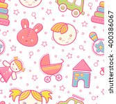 seamless baby pattern with...   Shutterstock .eps vector #400386067