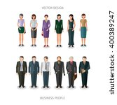 collection of twelve people... | Shutterstock .eps vector #400389247