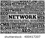 network word cloud  business...   Shutterstock .eps vector #400417207