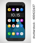 modern smartphone template with ...