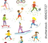 people and sport seamless... | Shutterstock .eps vector #400422727