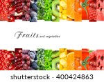 fresh fruits and vegetables.... | Shutterstock . vector #400424863
