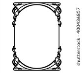 rectangular decorative frame... | Shutterstock .eps vector #400436857