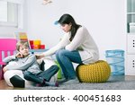 little boy afraid of hand's... | Shutterstock . vector #400451683