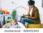 little worried boy at... | Shutterstock . vector #400452343
