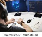 html web development code... | Shutterstock . vector #400458343