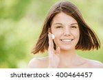 close up portrait of young... | Shutterstock . vector #400464457