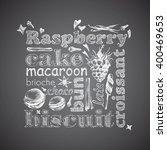letter design hand drawn vector ... | Shutterstock .eps vector #400469653