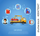 car service concept for poster  ... | Shutterstock .eps vector #400475047