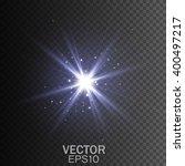 glow light effect. star burst... | Shutterstock .eps vector #400497217
