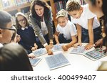 school teacher teaching... | Shutterstock . vector #400499407