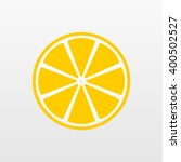 yellow lemon icon  flat fruit... | Shutterstock .eps vector #400502527