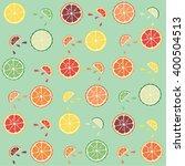 vector citrus pattern. set of...   Shutterstock .eps vector #400504513