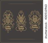 easter rabbit emblem | Shutterstock .eps vector #400510963