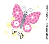 beautiful butterfly lovely...   Shutterstock .eps vector #400513333
