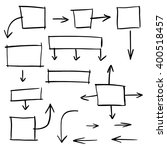 hand drawn rectangular frames... | Shutterstock .eps vector #400518457
