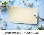 art spring floral  background... | Shutterstock . vector #400540603