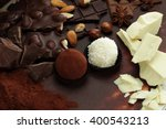 chocolate background  nut... | Shutterstock . vector #400543213