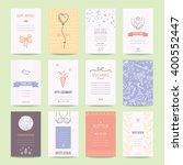 birthday  engagement  wedding... | Shutterstock .eps vector #400552447