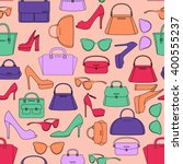 Vector Seamless Pattern Of Bag...