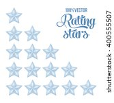silver rating stars set with... | Shutterstock .eps vector #400555507