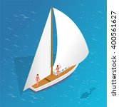 Sailing Yacht Icon. Sailing...
