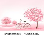 spring background with a... | Shutterstock .eps vector #400565287