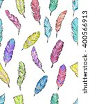 seamless pattern with hand... | Shutterstock .eps vector #400566913