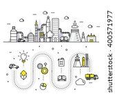 modern petrol industry thin... | Shutterstock .eps vector #400571977