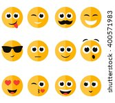 set of emotional face icons | Shutterstock .eps vector #400571983