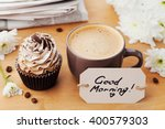 coffee mug with cupcake ... | Shutterstock . vector #400579303