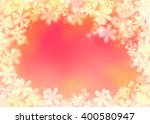 pink orange cherry greeting... | Shutterstock . vector #400580947