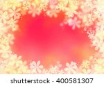 pink orange cherry greeting... | Shutterstock . vector #400581307