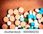 closeup of medical capsule or... | Shutterstock . vector #400584253