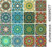 set of ethnic seamless pattern. ... | Shutterstock .eps vector #400589077