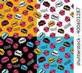wow  vector seamless comic... | Shutterstock .eps vector #400601287