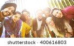 friends friendship walking park ... | Shutterstock . vector #400616803